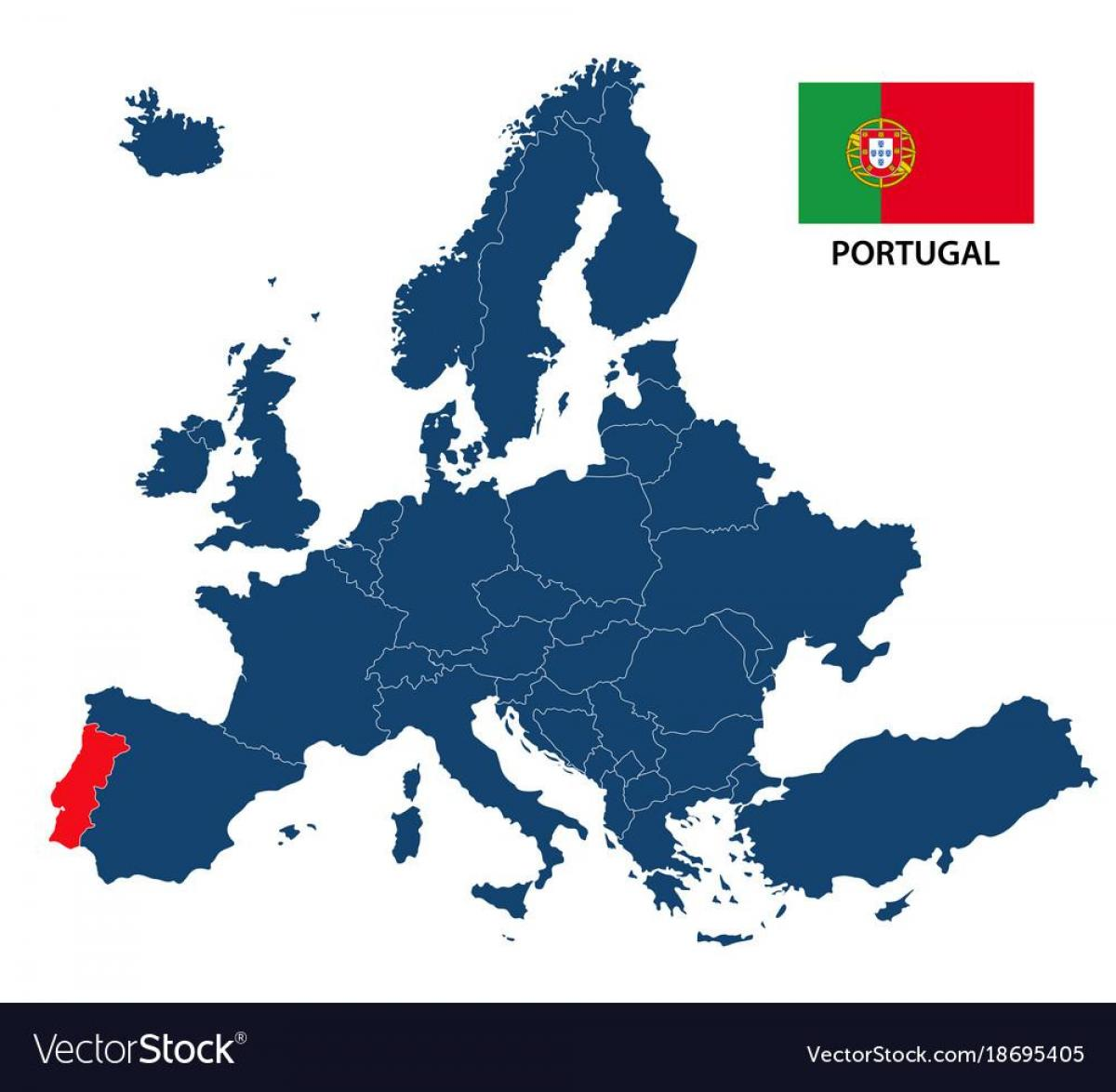 mapa portugal na europa Europa mapa Portugal   Mapa Portugal Europan (Hegoaldeko Europa  mapa portugal na europa